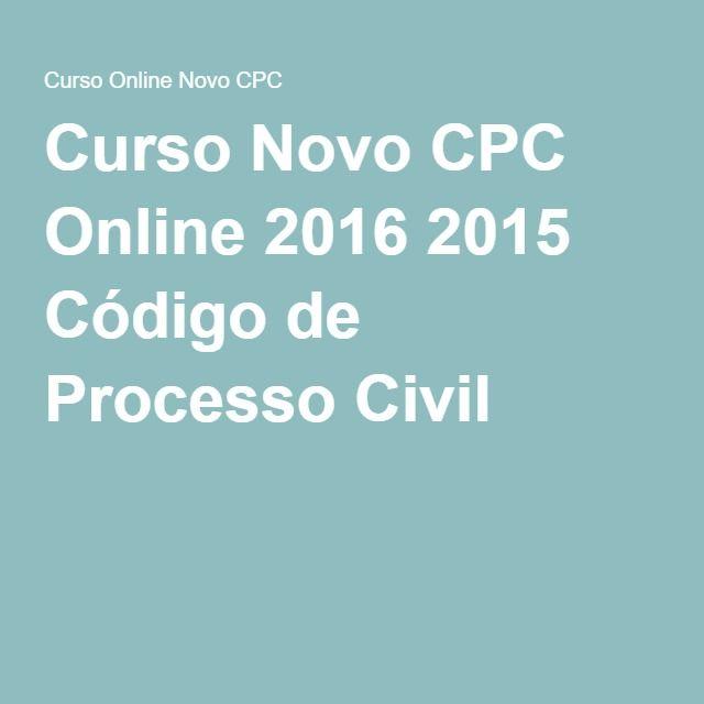 Curso Novo CPC Online 2016 2015 Código de Processo Civil