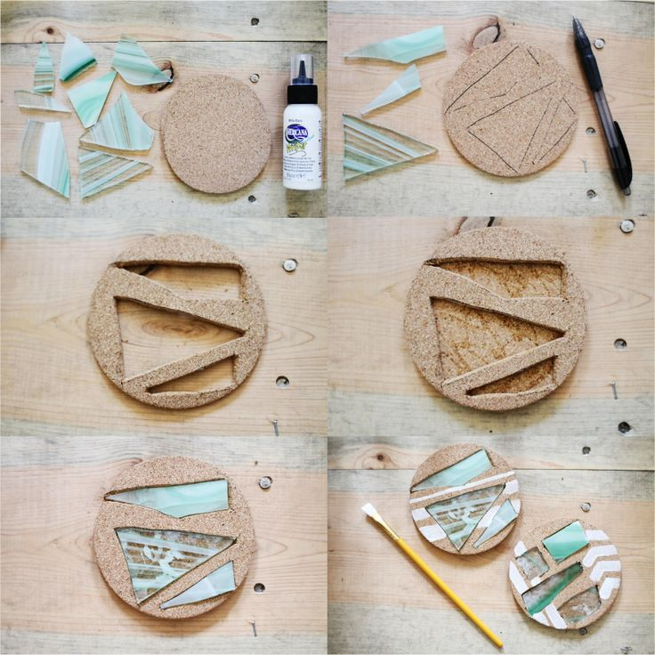 Sincerely, Kinsey: Stained Glass Coaster DIY  - variation sea glass