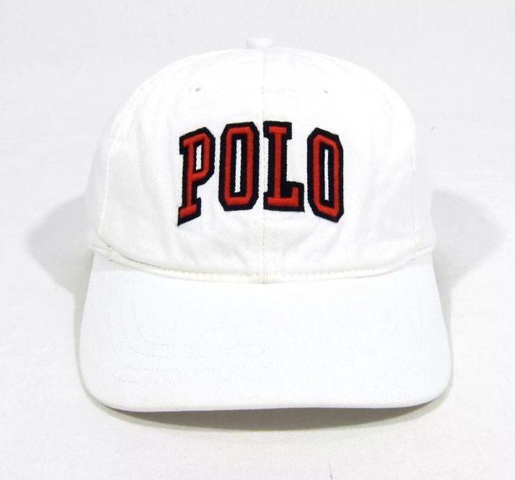 VTG 90s POLO SPORT RALPH LAUREN STRAPBACK 6 PANEL HAT CAP SPELLOUT BEAR NYC 92 #PoloSport #6PANEL