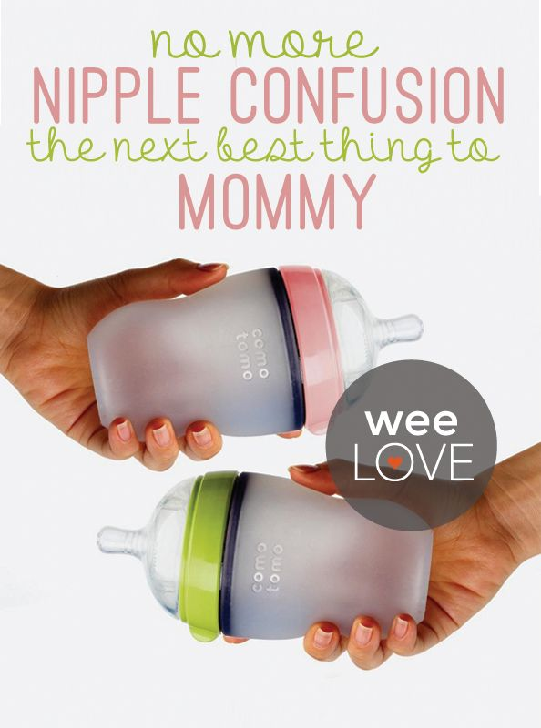 Say good-bye to nipple confusion with the Comotomo baby bottle. This bottle is the next best thing to (mommy) the real thing!