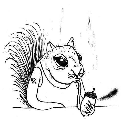 IT'S smoking squirrel FRIDAY! by Karo Rigaud