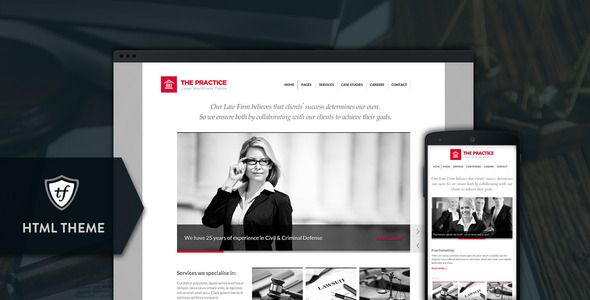 The Practice - Lawyer, Legal Offices HTML Theme - Business Corporate - Bob June