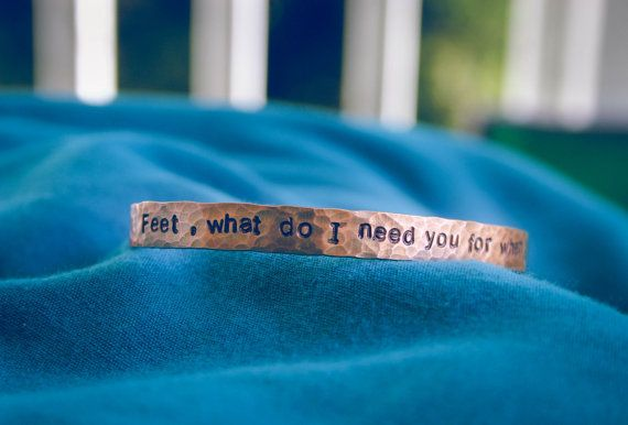 Frida Kahlo 'Feet what do I need you for when I have wings to fly' bracelet by TheVagabondStudio, $14.00