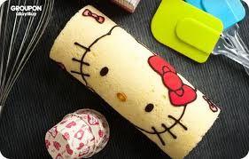 Cake Roll Hello Kitty