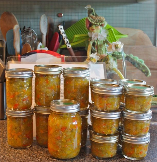 Emerill's Spicy Green Tomato Chow Chow (Valerie's Way)