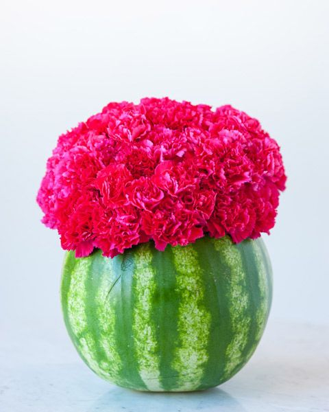 Make this awesome DIY watermelon flower centerpiece and wow all of the guests are your summer parties! Get the how-to at The Sweetest Occasion