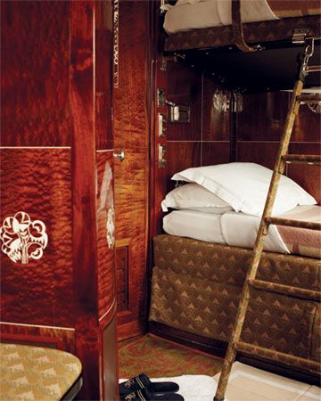 One of the most famous luxury trains, The Orient Express utilizes their restored 1920′s vintage coaches and is the world's most authentic luxury train of that time period.