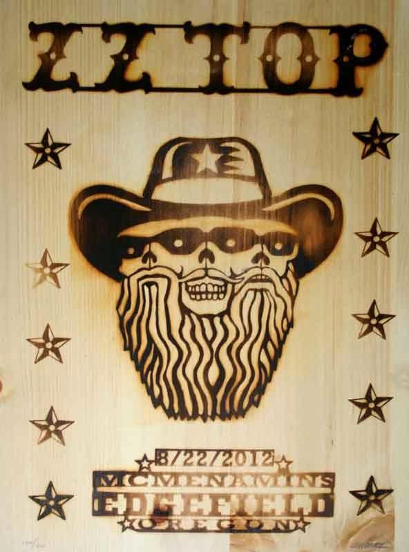 Emek ZZ Top Edgefield Branded Wood Poster
