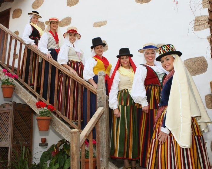 Resultado de imagen de vestimenta tradicional canaria romerias