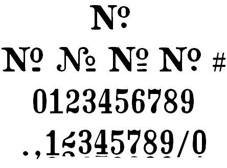 Vintage Number Fonts