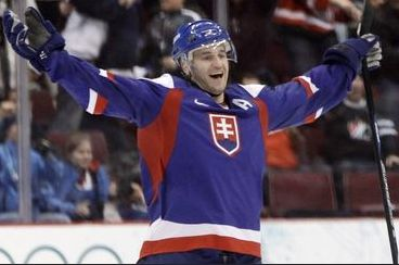 Pavol Demitra (was one of the best slovakian hockey players. Always wore number 38, died in Russia at plane accident in 2011) <3