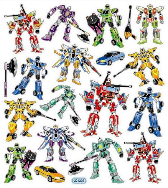 Faux Transformers Stickers  Transformers Stickers  by iluvdesign