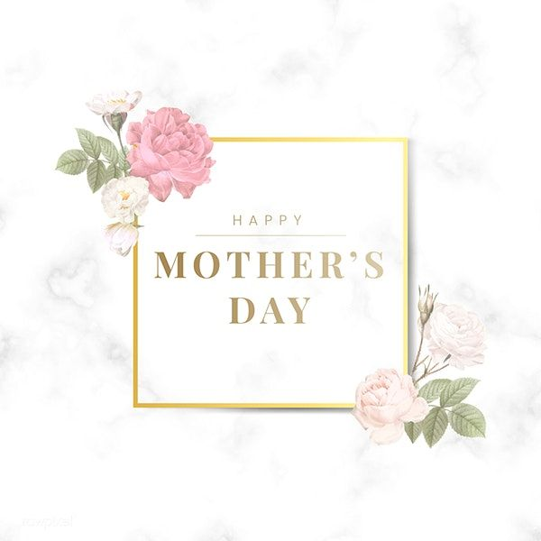 Download Premium Vector Of Happy Mother S Day Square Badge Vector Happy Mothers Day Simple Art Designs Flower Illustration