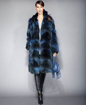 The Fur Vault Pieced Coyote-Fur Coat @ Macy's!  So in love with this look!