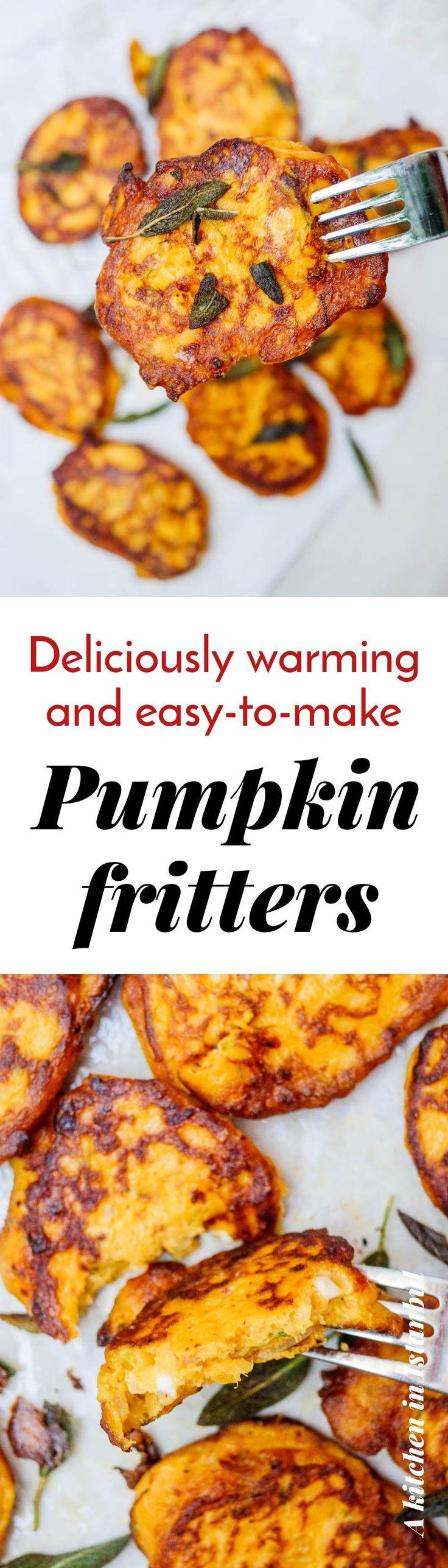 Pumpkin fritters – recipe / A kitchen in Istanbul