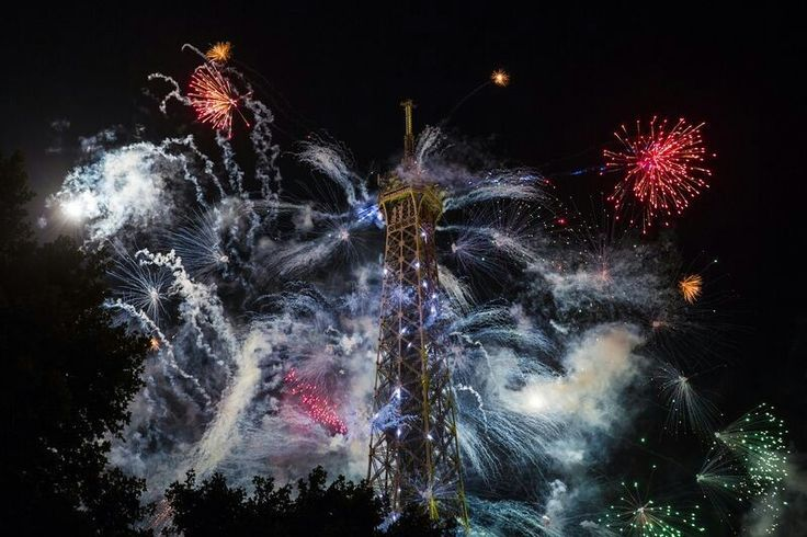 SEPTEMBER 14, 2017PARISIAN FIREWORKS  Fireworks explode behind the Eiffel Tower in Paris, France, on Bastille Day. Celebrated on July 14th, the national holiday remembers the turning point of the French Revolution: the storming of the Bastille.  PHOTOGRAPH BYPANAYOTIS PANTZARTZIDIS,
