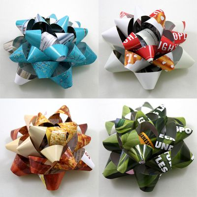 sooooo many ideas for reusing magazines/newspapers/phonebooks/miscellaneous paper to make gift bows, coasters, woven baskets, etc.