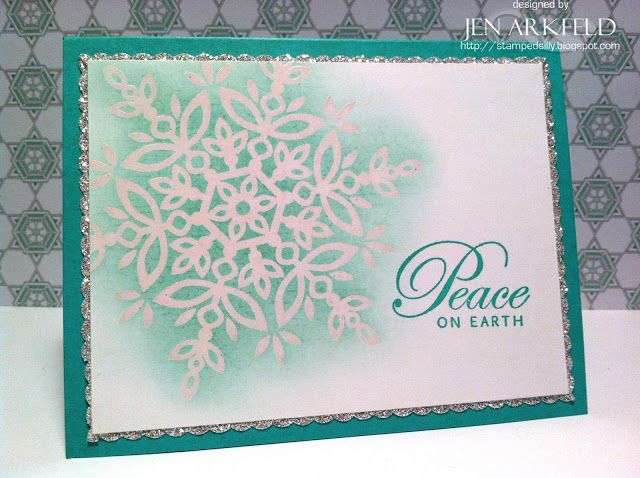 Stamped Silly: Sparkling Snowflake - Festive Flurry stamps create a clean, simple and elegant card!  #stampinup #festiveflurry #cardmaking