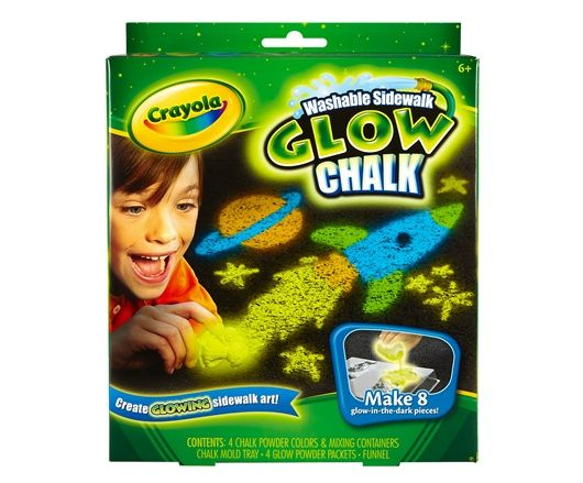 washable sidewalk glow chalk product glow art ideas. Black Bedroom Furniture Sets. Home Design Ideas
