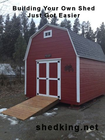 One of the most popular shed plans on shedking.net is this 12x16 small barn.  The plans are easy to follow, the shed is easy to build, and will give you tons of storage space with it's huge loft.