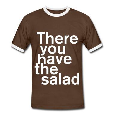 There you have the salad Männer Kontrast-T-Shirt - Dunkelgrau/Weiß