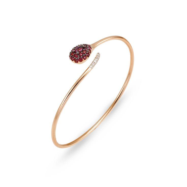 bracelet in 18 kt rose gold with topaz