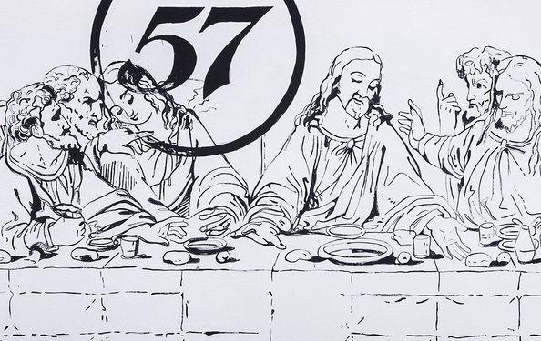 Andy Warhol, The Last Supper (Camel/57), Ausstellungsansicht: Letzte Bilder. Von Manet bis Kippenberger. © Schirn Kunsthalle Frankfurt 2013, Foto: Norbert Miguletz