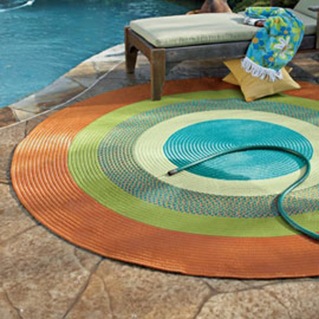 Amazing Colorful Round Outdoor Area Rug