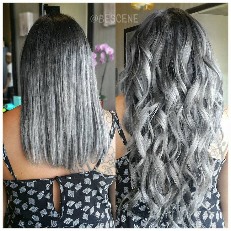 Linh Phan On Instagram Steel Grey Ombre W Custom Color