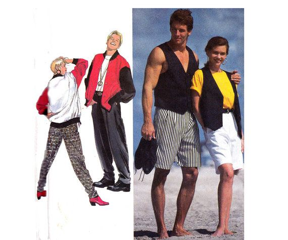 Check out this item in my Etsy shop https://www.etsy.com/au/listing/225785663/90s-retro-mens-beach-pants-vest-jacket
