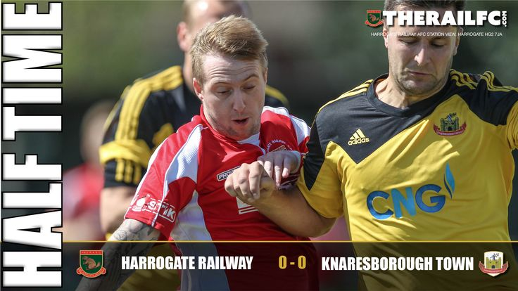 HT: Harrogate Railway 0-0 Knaresborough Town    @therailfc @knaresboroughfc @edwhite2507 #Harrogate