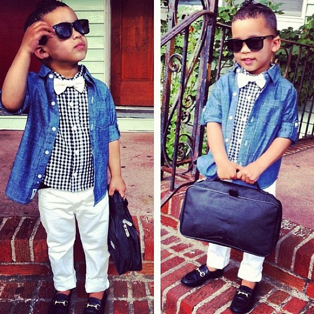 Little boy with style!!