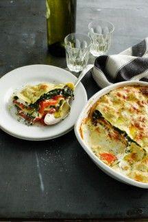 Garden Vegetable Beschamel Vegan Lasagna Recipe from healthyvoyager.com