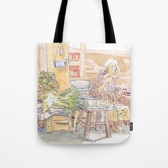 Ibu Joyo Tote Bag by World Sketching Tour - Luís Simões | Society6