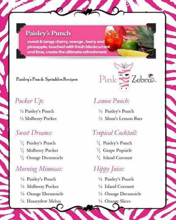 Pink Zebra Paisley's Punch Recipes