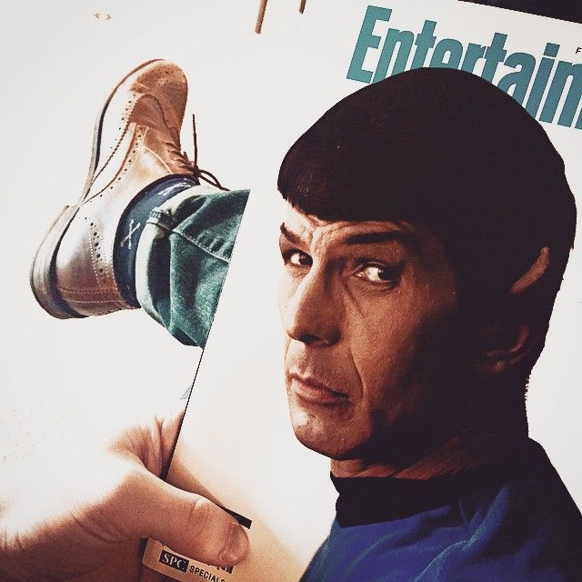 A little read about a big #Legend . #Nimoy / #Spock . Thanks @entertainmentweekly for this . #BrockStreetBarber on #Break . #BarberLife