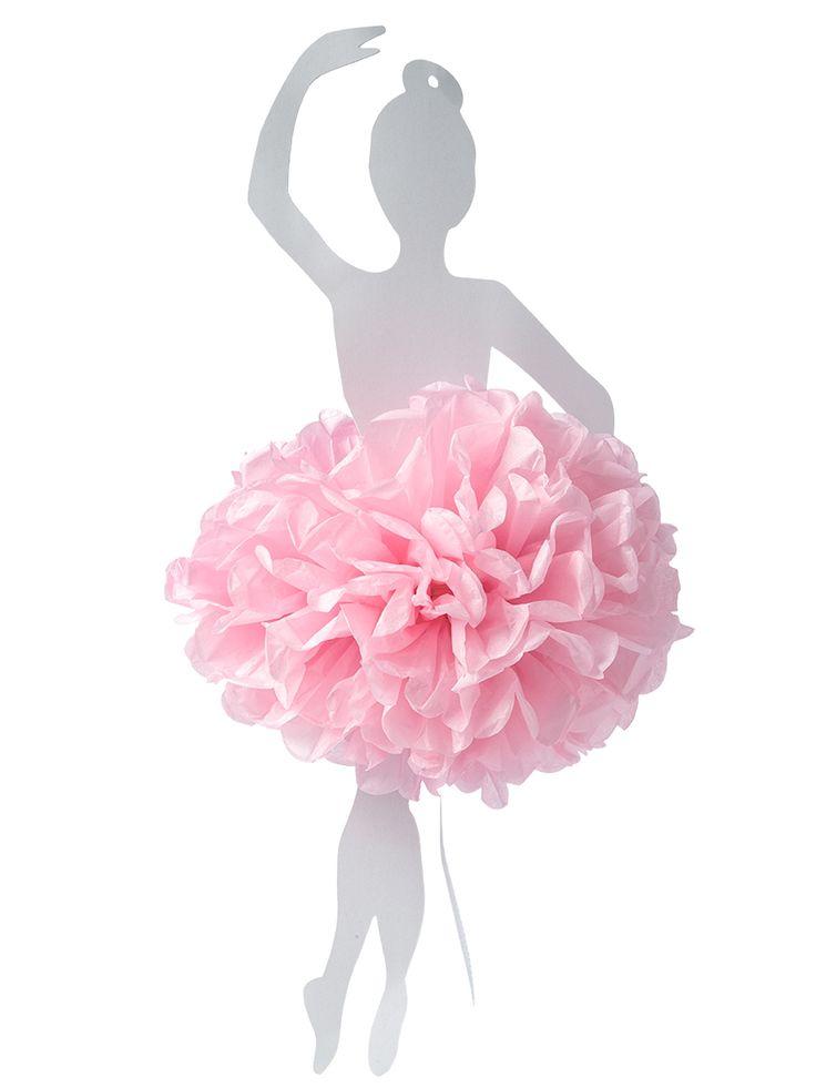 Ballerina 50 cm sospesa con pompon rosa su VegaooParty, negozio di articoli per feste. Scopri il maggior catalogo di addobbi e decorazioni per feste del web,  sempre al miglior prezzo!