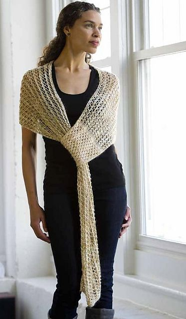 Ravelry: Smart Shawl pattern by Lynn Wilson. So clever. Running short of yarn? Do this!