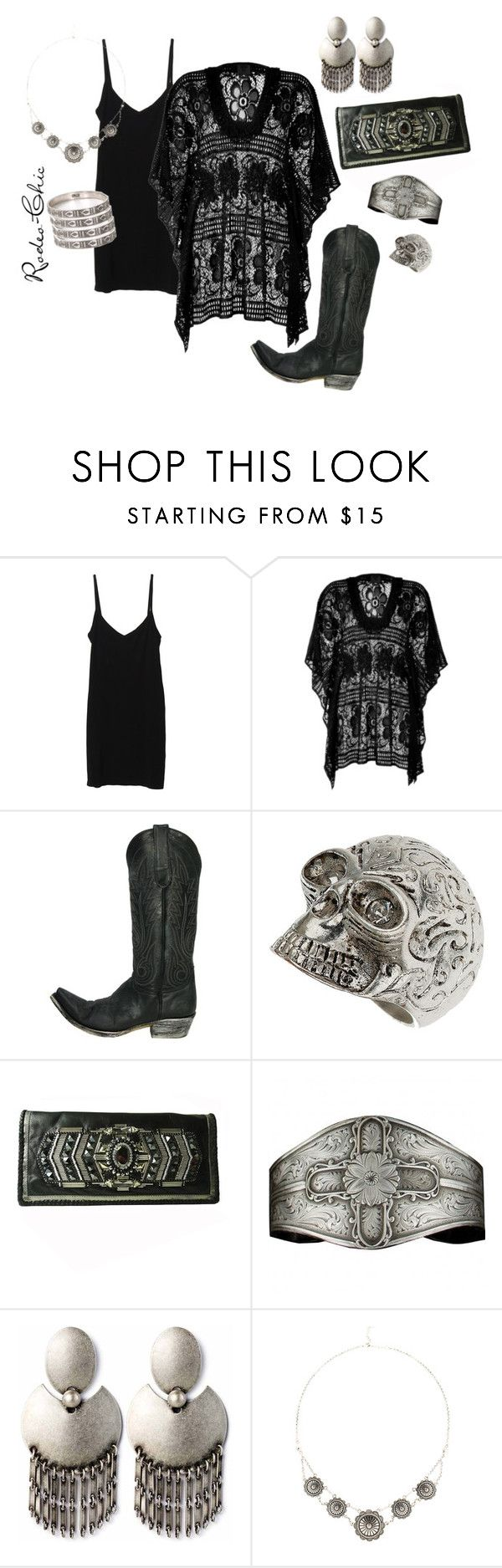 """""""Heavy Metal"""" by rodeo-chic ❤ liked on Polyvore featuring Splendid, Anna Sui, Old Gringo, Dorothy Perkins, BUBA, Jenny Bird, Fortune Favors the Brave, LowLuv, crochet and cowboy boots"""