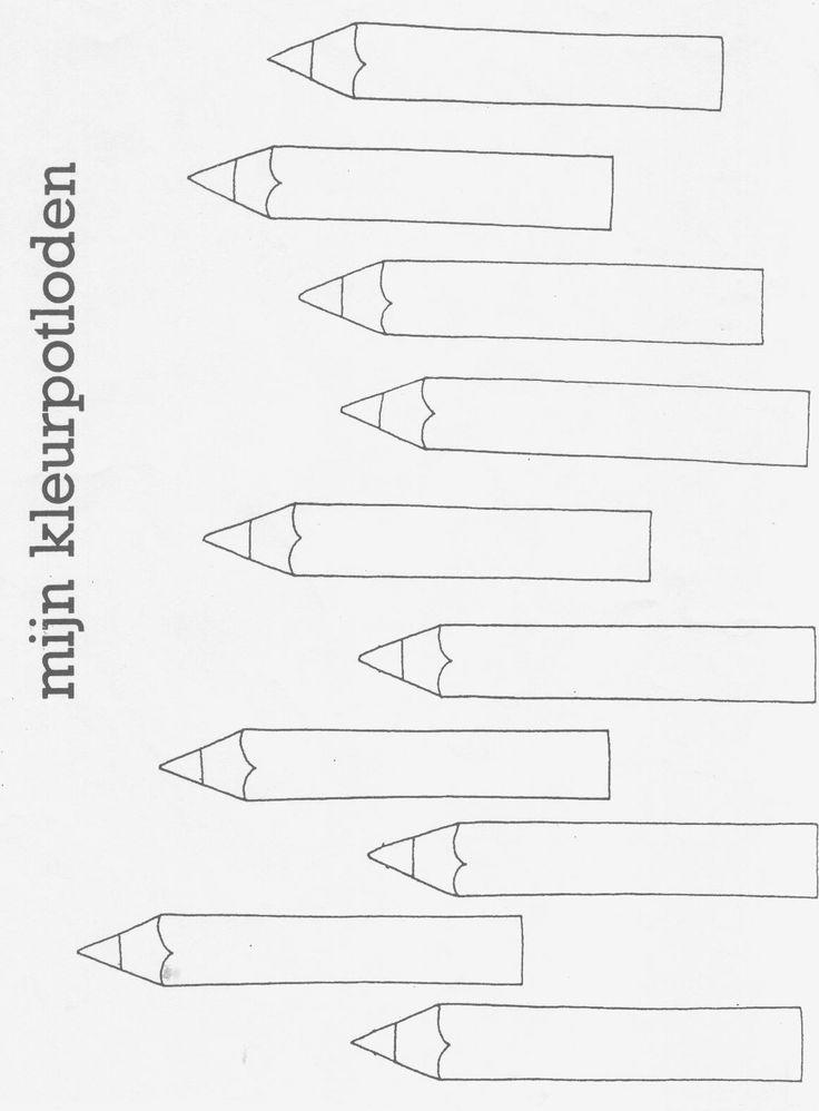 Kleur de potloden