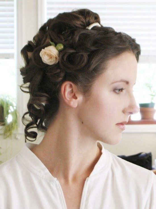Victorian Wedding Hairstyle Tutorial Reader Request | Bobby Pin Blog / Vintage hair and makeup tips and tutorials