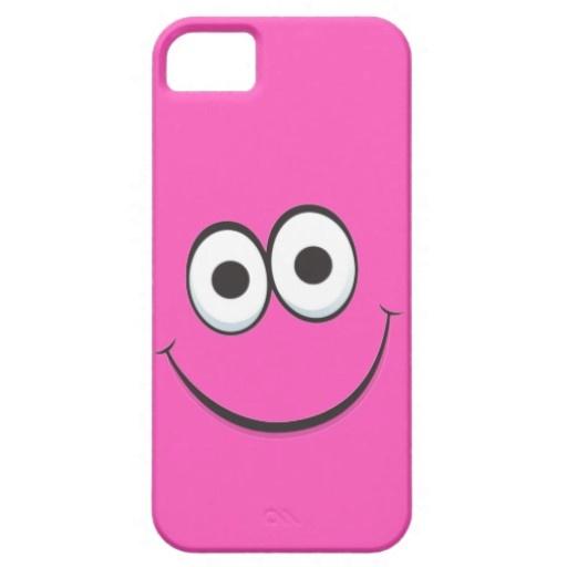 Pink happy cartoon smiley face iPhone 5 case...$40.90