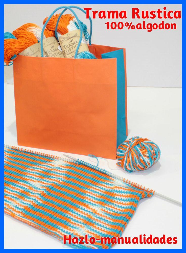 ¿Sabes qué es la TRAMA RÚSTICA? Es un material nuevo, ideal para trabajos de esta temporada. Es 100% algodón y tiene una excelente calidad, para tejer tanto con aguja como ganchillo. ¡Todo en Hazlo Manualidades!