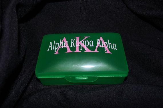 Alpha Kappa Alpha Travel Plastic Soap Dish by NeedNalia on Etsy