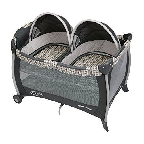 Twin Bassinet Playard Portable Playpen Folding Pack n Play Travel Baby Infant #Graco