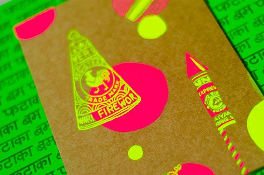 Diwali 2013 Card // Designer Mira Malhotra steers clear of the usual, sombre designs