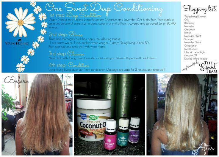 DIY Deep Conditioning for hair with Coconut oil and Young Living Essential Oils! ~The Sweet Team
