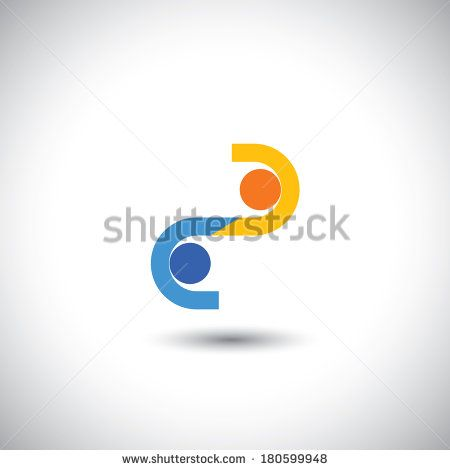 two businessmen closing a business deal with handshake - concept vector. This graphic also represents employees greeting each other, business hand shake, executives meeting, business transaction