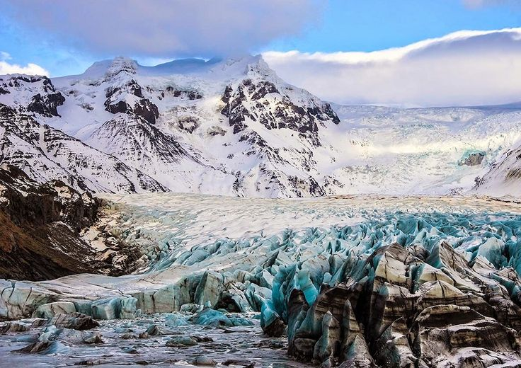 #DoYouKnow The Vatnajokull Ice Cap is the largest in Europe. The ice cap averages a maximum thickness of 3,300 feet. Gives rise to about 30 exit glaciers.  #Vatnajokull #glacier #icecap #icewalk #hike #europe #Iceland #travel #tour #wanderlust #expedition #adventure #bucketlist #nature