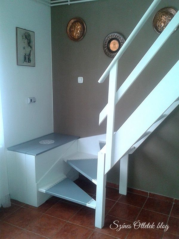 Úgy kezdődött  hogy volt egy unalmas  jellegtelen előregyártott lépcsőnk. Az akkori kereteinkbe épphogy belefé...